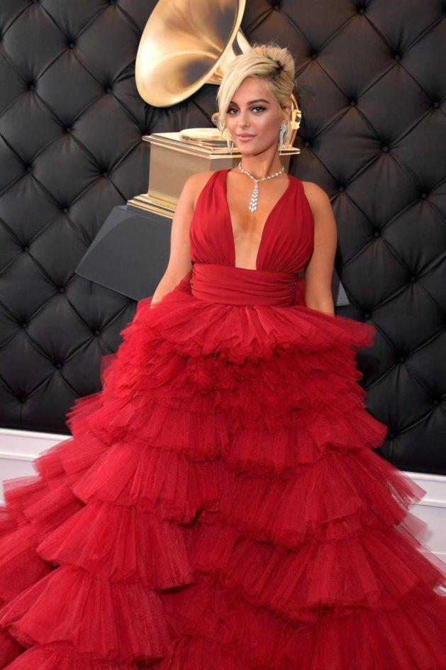 Bebe Rexha, en la gala de los Grammy