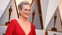 Meryl Streep llevó un mensaje en el pelo en los
