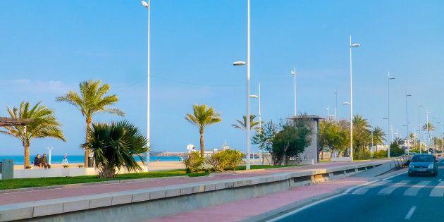 Imagen de la playa de Gandía,