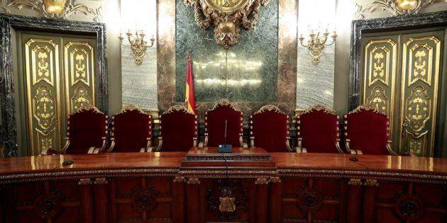 Vista de la Presidencia de la Sala Penal del Tribunal Supremo en la que tendrá lugar el juicio del