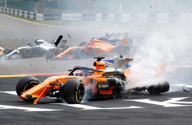 Fernando Alonso da el susto en el Gran Premio de Bélgica de Formula
