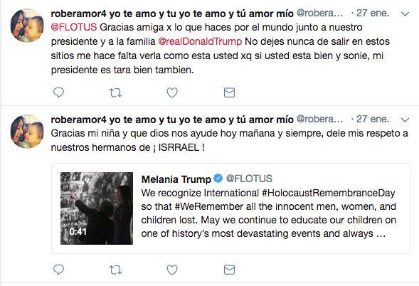 El tuitero chileno que saluda TODOS LOS DÍAS a Melania