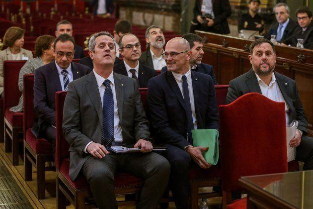 Los acusados en el juicio del