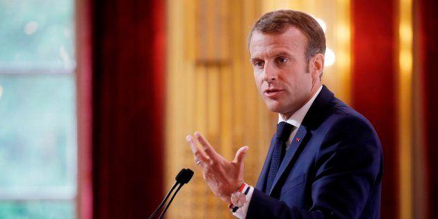 El presidente francés, Emmanuel Macron, este