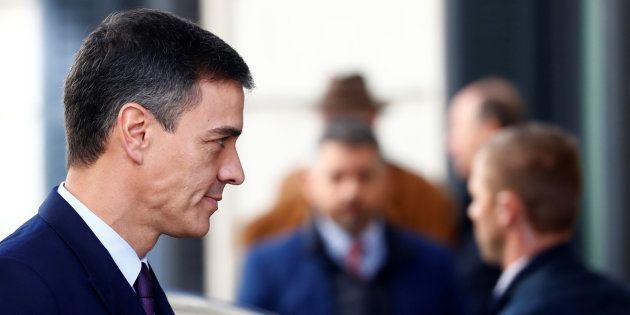 Spain's Prime Minister Pedro Sanchez arrives at Parliament in Madrid, Spain, February 12, 2019. REUTERS/Juan