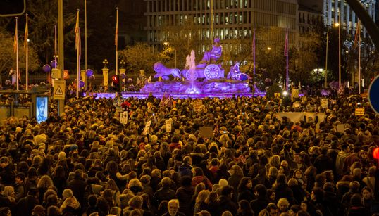 Las fotos de la manifestación feminista en