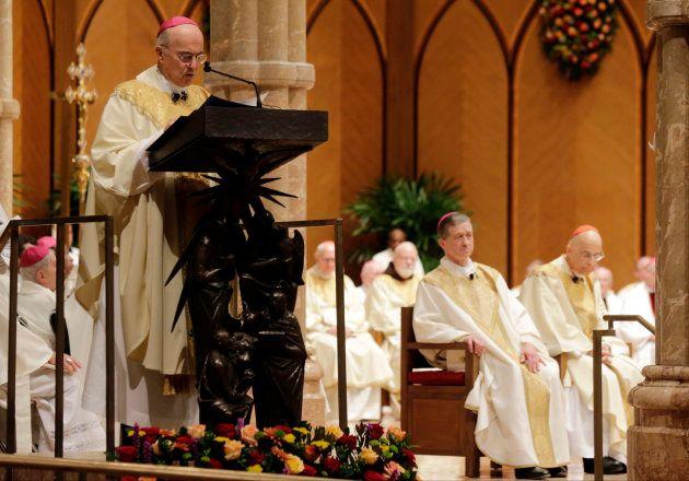 El arzobispo Carlo Maria Vigano, exnuncio de la Iglesia en Estados