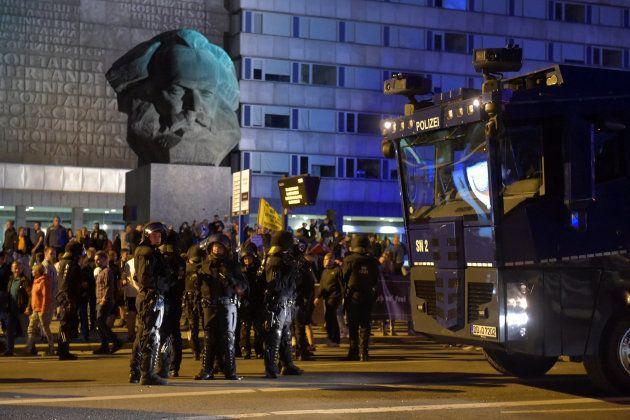 Enfrentamientos en Chemnitz,