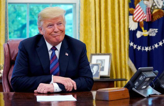 El presidente de EEUU, durante la conversación con su homólogo