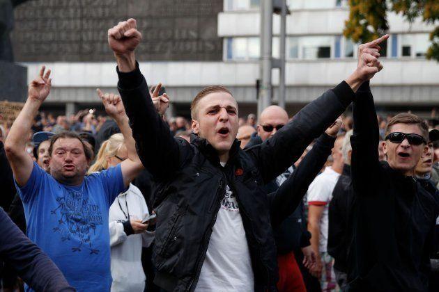 Manifestación de la extrema derecha en la ciudad alemana