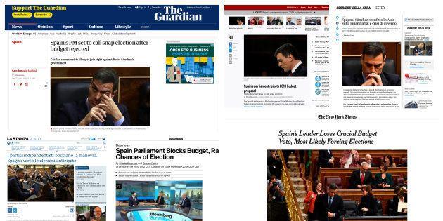 Imágenes de las ediciones digitales de varios medios
