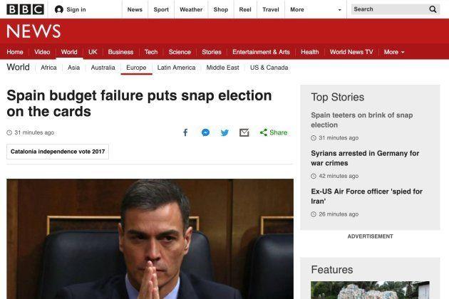 La BBC, abriendo con la información de los