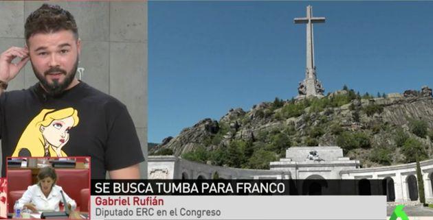 Estupefacción por lo que ha dicho Gabriel Rufián sobre el Valle de los Caídos en pleno directo en