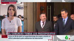 La comentada camiseta de Ana Pastor en su aparición en directo en 'Al Rojo