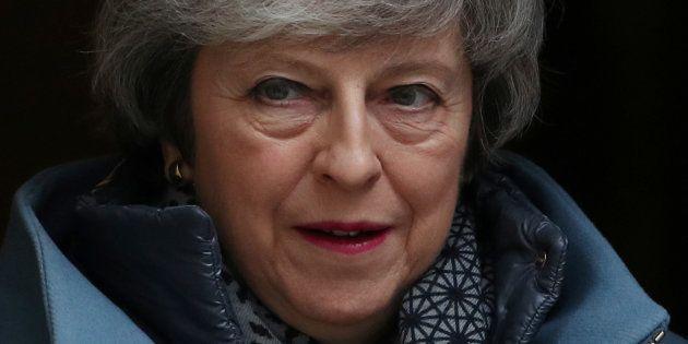 Theresa May, retratada ayer en Downing