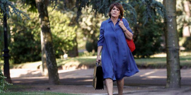 Dolores Delgado, llegando el pasado 6 de julio a La