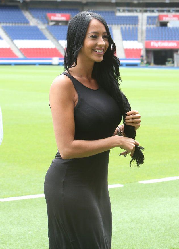 Aurah Ruiz, fotografiada en París durante la presentación de Jesé Rodríguez como jugador del Paris SaintGermain...