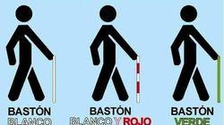 Todo lo que puedes saber por el color del bastón de las personas ciegas: el utilísimo tuit que