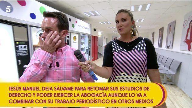 Jesús Manuel Ruiz cuenta entre lágrimas que deja 'Sálvame' para seguir