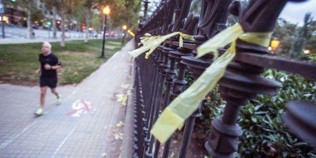 Paseo Pujades de Barcelona, donde una mujer ha sido agredida cuando retiraba lazos