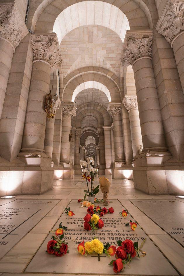 Madrid, Spain - October 14, 2018. Crypt of the Cathedral. Parish of Santa María de la