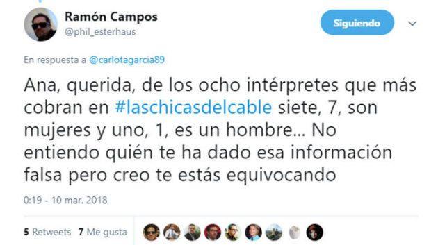 Ana Fernández rectifica su comentario sobre la brecha