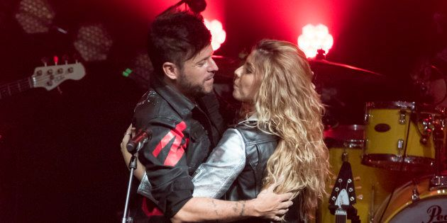 Pablo López y Miriam Rodríguez, en el concierto de la 'triunfita' el 11 de enero en