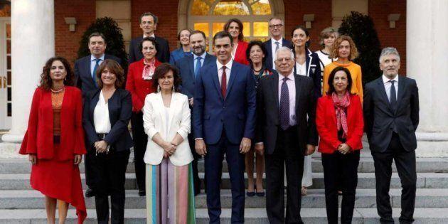 Foto de familia del Gobierno de Pedro