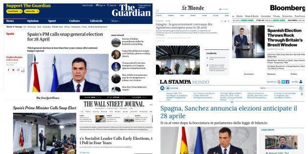 Las ediciones digitales de varios medios internacionales, con la noticia sobre