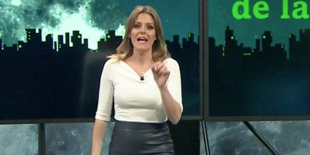 La periodista Andrea Ropero, en el programa 'La Sexta