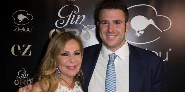 Ana Obregón y su hijo Álex Lequio, en marzo de