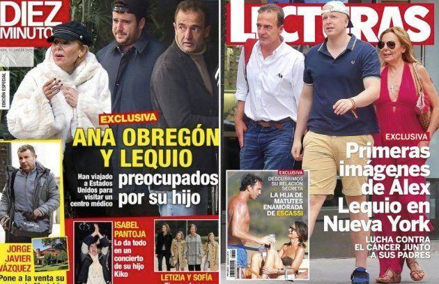 Las portadas de Ana Obregón y su hijo Álex en Nueva