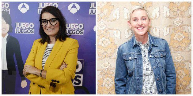 La genial conversación entre Silvia Abril y Ellen DeGeneres por el estreno de 'Juego de juegos' (Antena