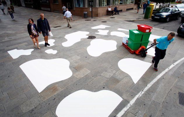 A Coruña cambia los pasos de cebra por 'pasos de
