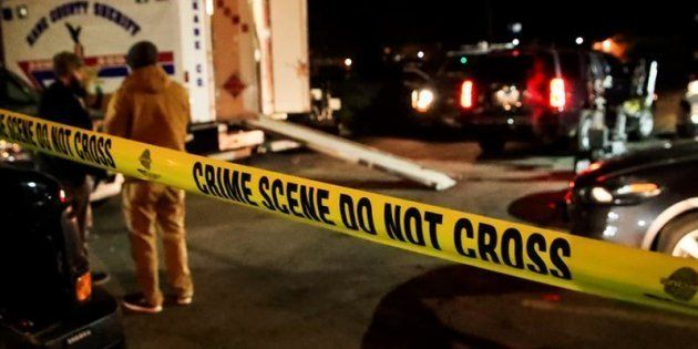Escena del tiroteo ocurrido este viernes en una fábrica de componentes industriales en la localidad de...
