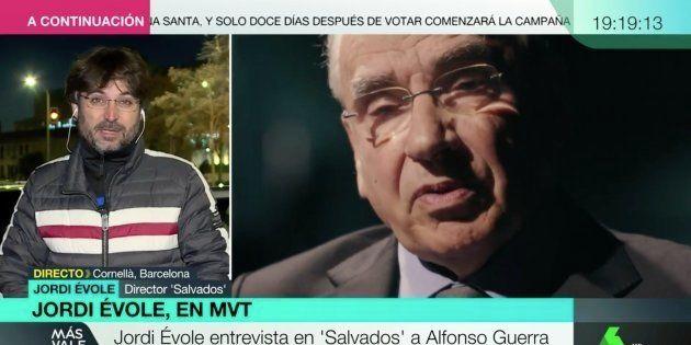 Jordi Évole, presentador de 'Salvados', en 'Más Vale