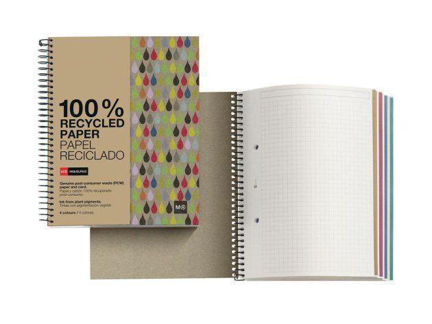 Cuadernos hechos con papel