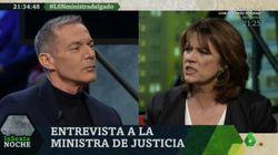 El enfado de Dolores Delgado por esta pregunta de Hilario Pino en 'LaSexta