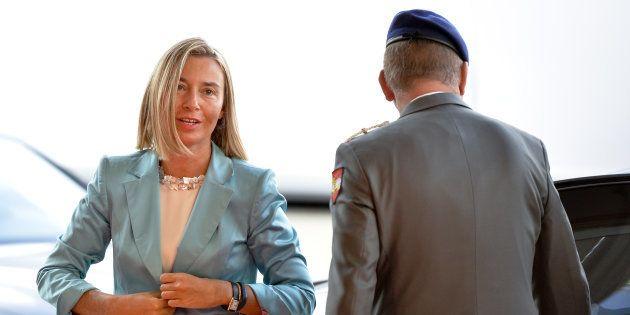 Federica Mogherini, a su llegada a la reunión de