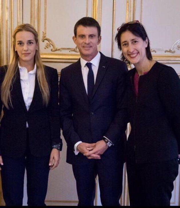 Isadora Zubillaga, Lilian Tintori, la esposa de Leopoldo López, en su visita a
