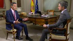 El elemento de esta imagen de la entrevista a Sánchez en TVE que esconde una importante