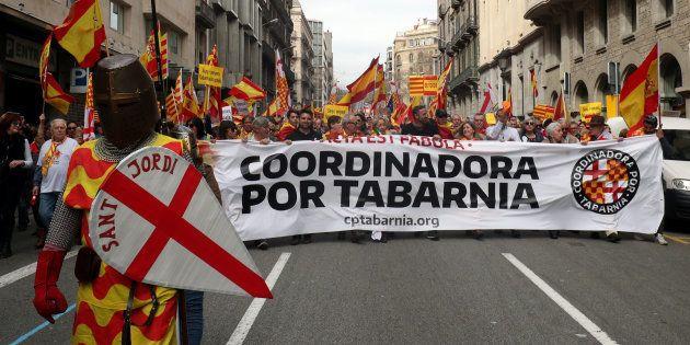 Imagen de archivo de una manifestación liderada por Tabarnia en