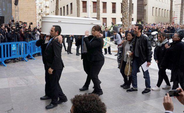 La madre de Gabriel, tras el funeral: