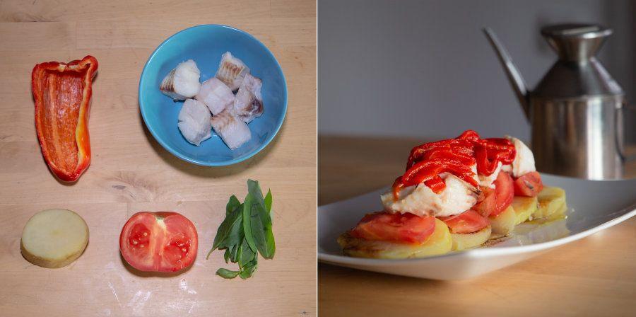 Recetas fáciles: ensalada de merluza con pimiento