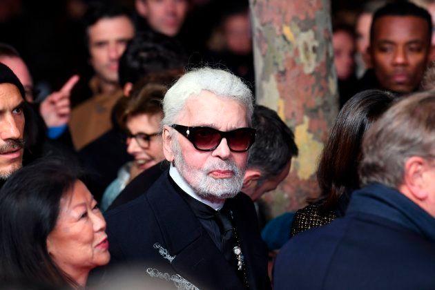 Karl Lagerfeld, en el encendido de luces de Navidad de