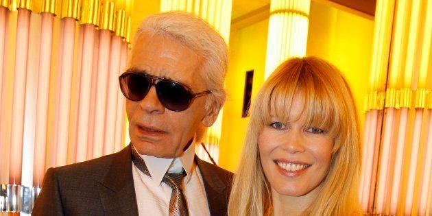 Karl Lagerfeld con Claudia