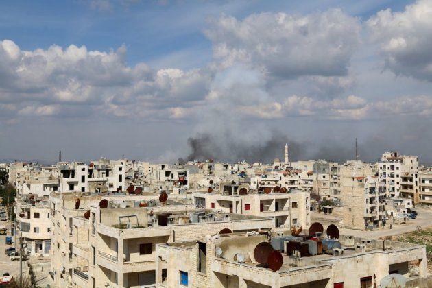 Ataque aéreo en Idlib