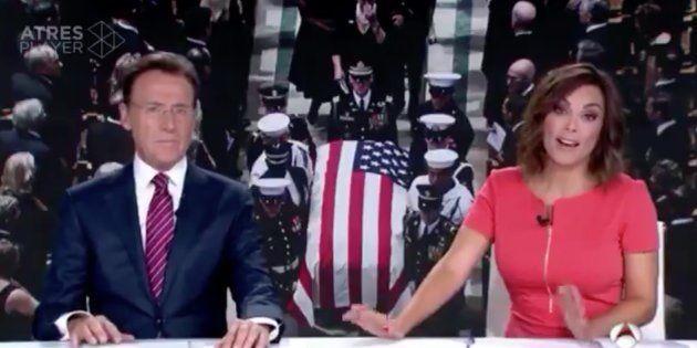 La reflexión de Mónica Carrillo ('Antena 3 Noticias') tras esta broma de Obama en el funeral de