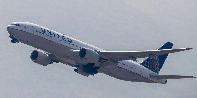 Un Boeing 777 de United Airlines, en una imagen de