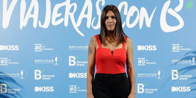 Lorena Castell en la presentación de 'Viajeras con B', en abril de 2018, en